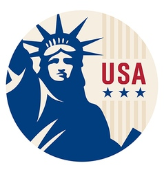 Travel sticker usa vector