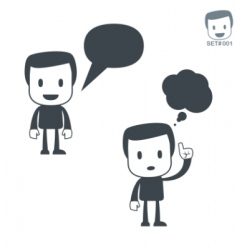 Communication icon man set001 vector
