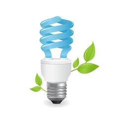 Ecological lightbulbs vector