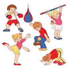 Cartoon small children vector