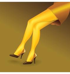 Sexy legs poster vector