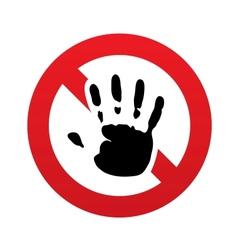 No hand print sign icon stop symbol vector