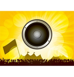 Festival and crowd with speaker vector