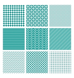 Monochrome seamless patterns vector