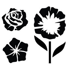 Flower silhouettes - 2 vector