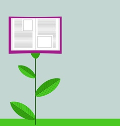 Concept of growing education book like flower vector