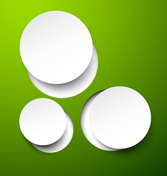 Paper white circles vector