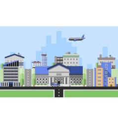 Office buildings background vector