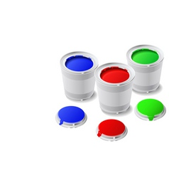 Cans of paint vector
