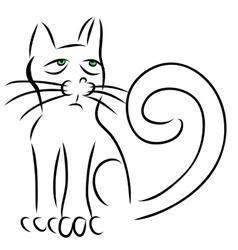 Calligraphy cat vector