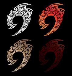 Fantasy swords set vector