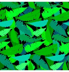 Grunge pattern with fern leafs vector