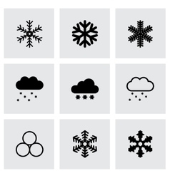 Snow icon set vector