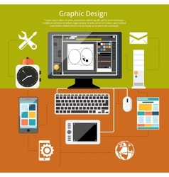 Graphic design and designer tools concept vector