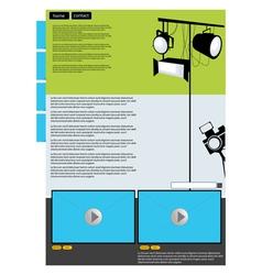 Visual art web page vector