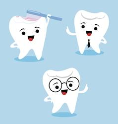 Dental characters vector