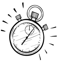 Doodle stopwatch timer time speed vector