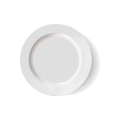 White porcelain plate on a white background vector