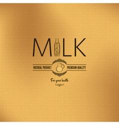 Milk bottle design vintage background vector