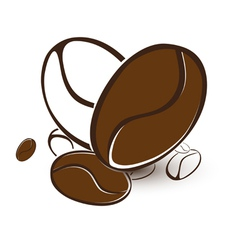 Coffee bean heart vector