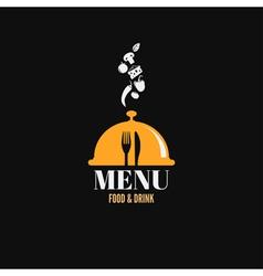 Menu design food drink dishes concept vector