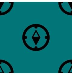 Compass web icon flat design seamless gray pattern vector
