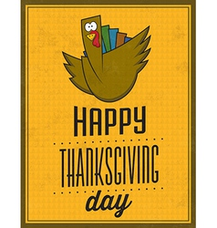 Happy thanksgiving day vintage typographic poster vector