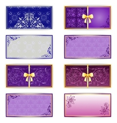 Set of template luxury for greeting card vector