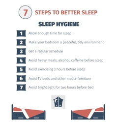 Sleep infographic vector