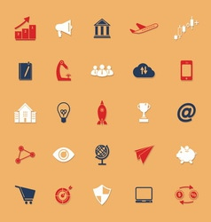 Startup business classic color icons with shadow vector
