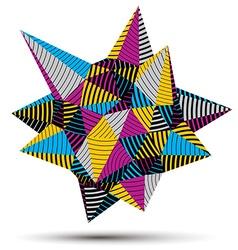 3d modern stylish abstract stripy construction vector
