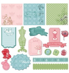 Scrapbook desgin elements vector