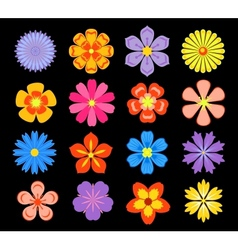 Set of floral elements and blossoms vector