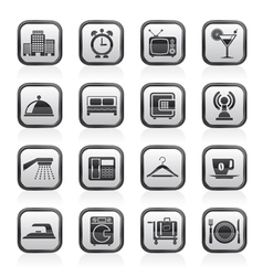 Motel and travel icons vector