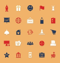 Business startup classic color icons with shadow vector