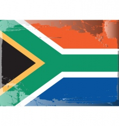 South africa national flag vector