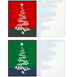 Christmas postcards vector