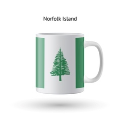 Norfolk island flag souvenir mug on white vector