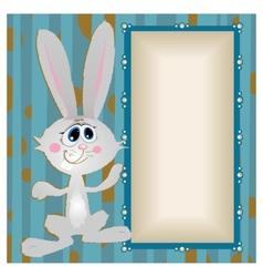 Bunny big-eyed rabbit with long ears vector