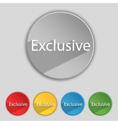 Exclusive sign icon special offer symbol set of vector