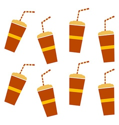 Soft drink pattern vector