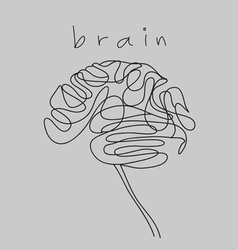Brain doodle hand drawn vector