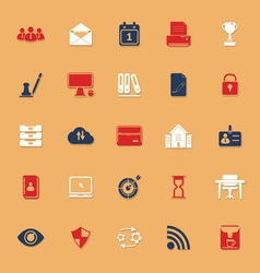 Business management classic color icons with vector
