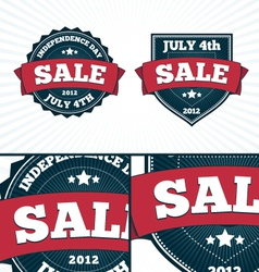 Independence day july 4th big banners set vector
