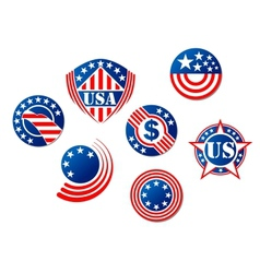 Usa and american symbols vector