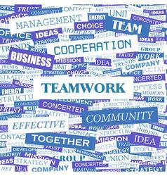Teamwork vector