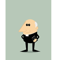 Cartoon priest vector