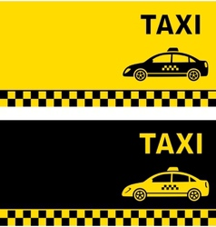 Black and yellow taxi business card vector