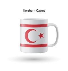 Northern cyprus flag souvenir mug on white vector