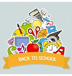 Back to school card vector